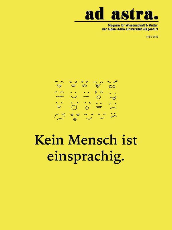 Bucheinband von 'ad astra. - Magazin für Wissenschaft & Kultur der Alpen-Adria-Universität Klagenfurt, Band 6'