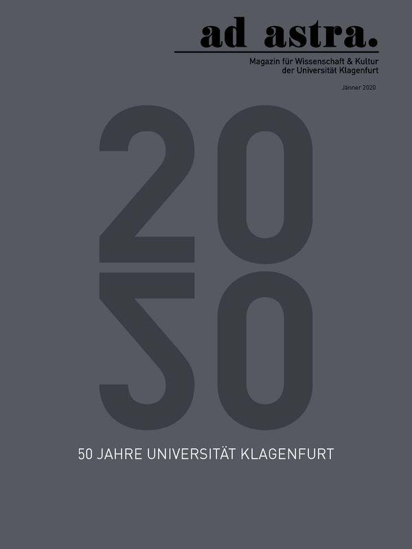 Bucheinband von 'ad astra. - Magazin für Wissenschaft & Kultur der Universität Klagenfurt, Band 9'