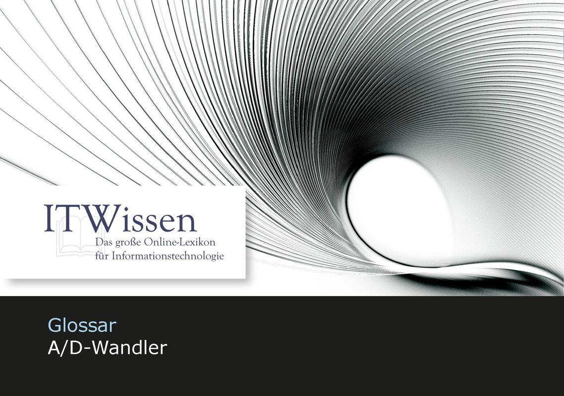 Bucheinband von 'IT Wissen - A/D-Wandler'