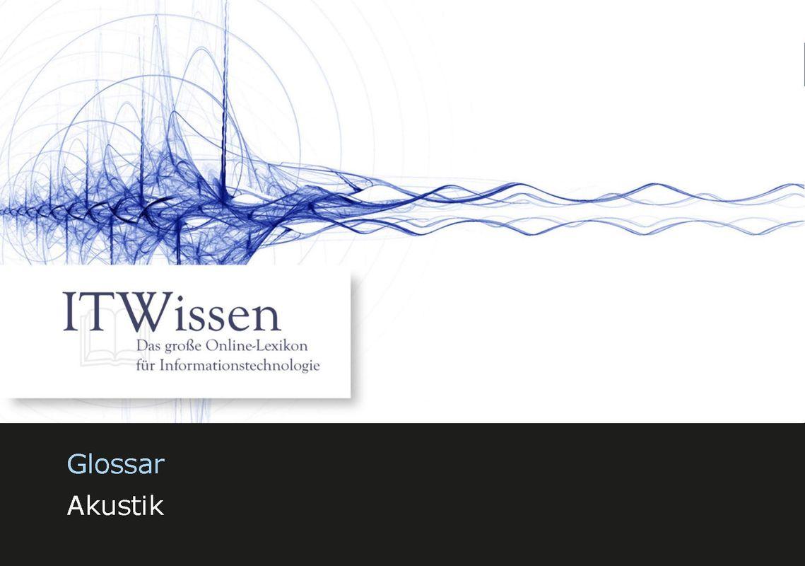 Bucheinband von 'IT Wissen - Akustik'