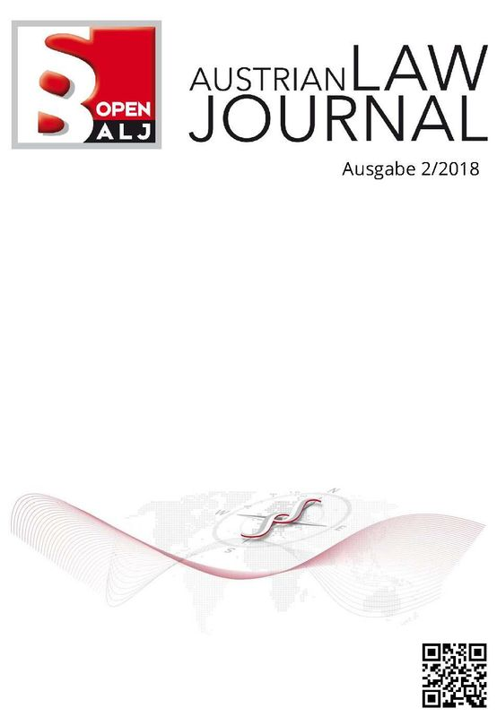 Cover of the book 'Austrian Law Journal, Volume 2/2018'