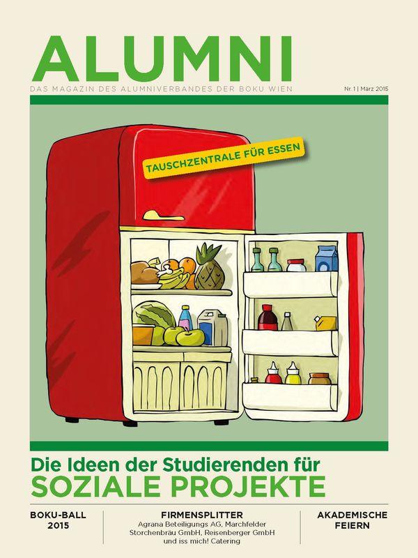 Bucheinband von 'Alumni - Das Magazin des Alumniverbandes der Universität für Bodenkultur Wien, Band 1/2015'
