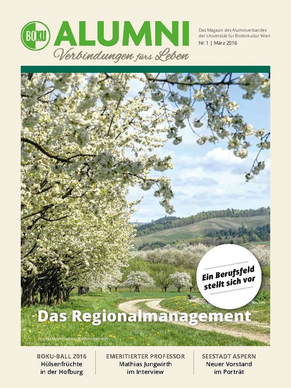 Bucheinband von 'Alumni - Das Magazin des Alumniverbandes der Universität für Bodenkultur Wien, Band 1/2016'