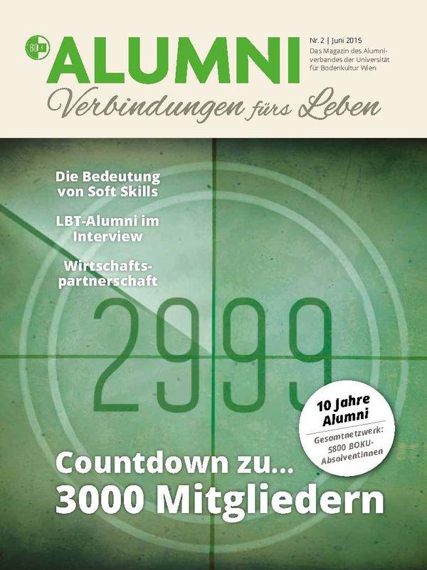 Cover of the book 'Alumni - Das Magazin des Alumniverbandes der Universität für Bodenkultur Wien, Volume 2/2015'