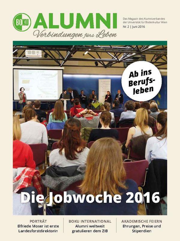 Cover of the book 'Alumni - Das Magazin des Alumniverbandes der Universität für Bodenkultur Wien, Volume 2/2016'