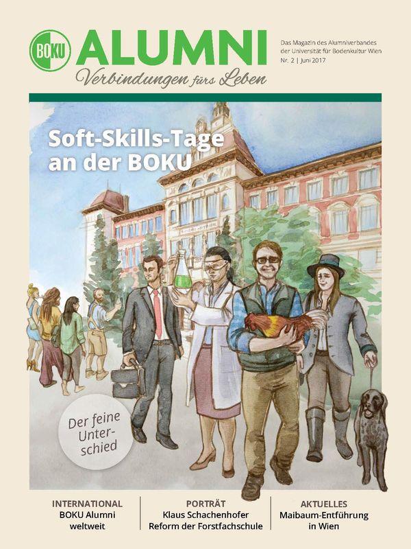 Bucheinband von 'Alumni - Das Magazin des Alumniverbandes der Universität für Bodenkultur Wien, Band 2/2017'