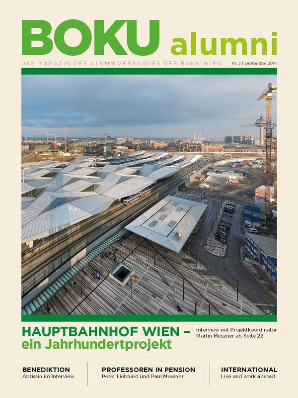 Bucheinband von 'Alumni - Das Magazin des Alumniverbandes der Universität für Bodenkultur Wien, Band 3/2014'