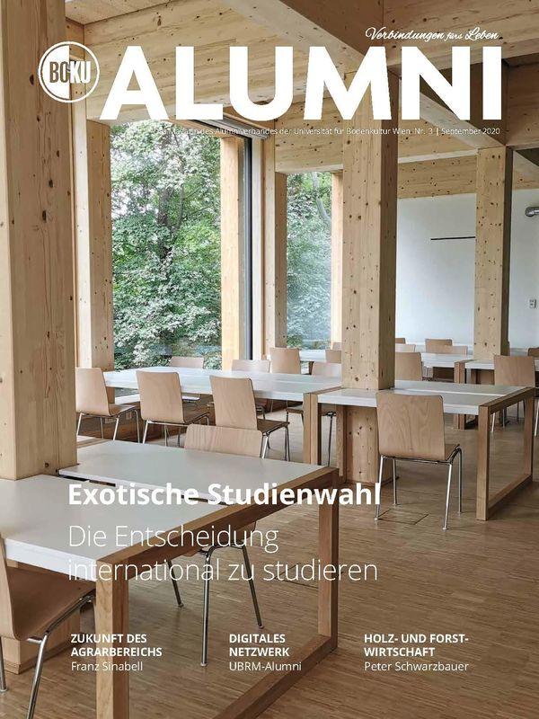 Bucheinband von 'Alumni - Das Magazin des Alumniverbandes der Universität für Bodenkultur Wien, Band 3/2020'