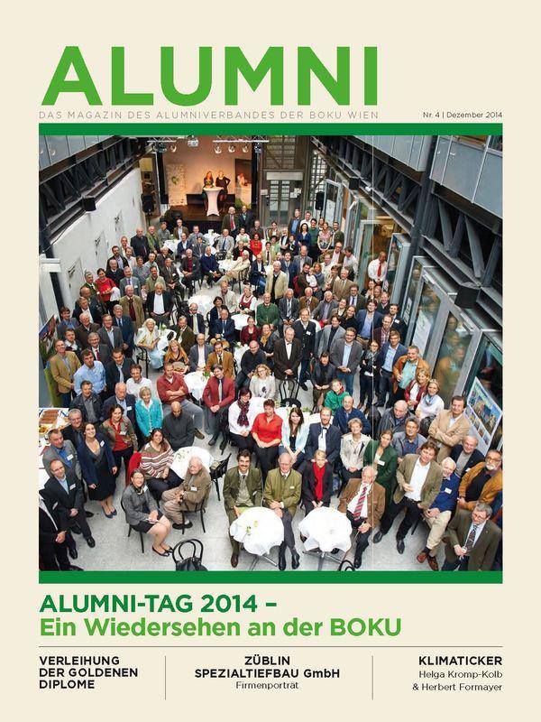 Bucheinband von 'Alumni - Das Magazin des Alumniverbandes der Universität für Bodenkultur Wien, Band 4/2014'