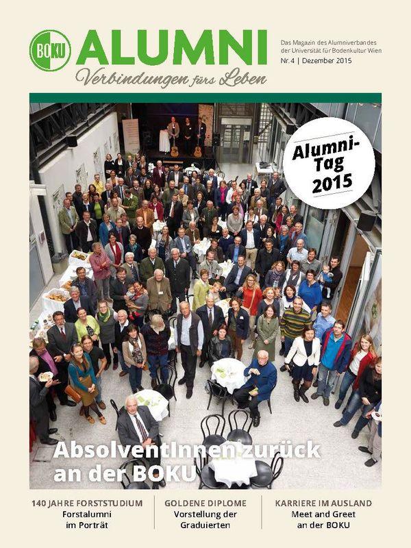 Bucheinband von 'Alumni - Das Magazin des Alumniverbandes der Universität für Bodenkultur Wien, Band 4/2015'