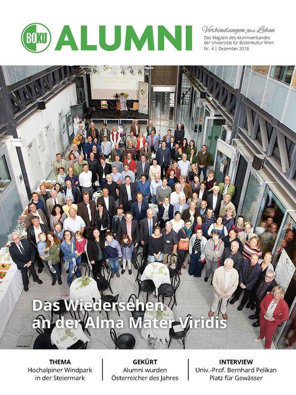 Bucheinband von 'Alumni - Das Magazin des Alumniverbandes der Universität für Bodenkultur Wien, Band 4/2018'