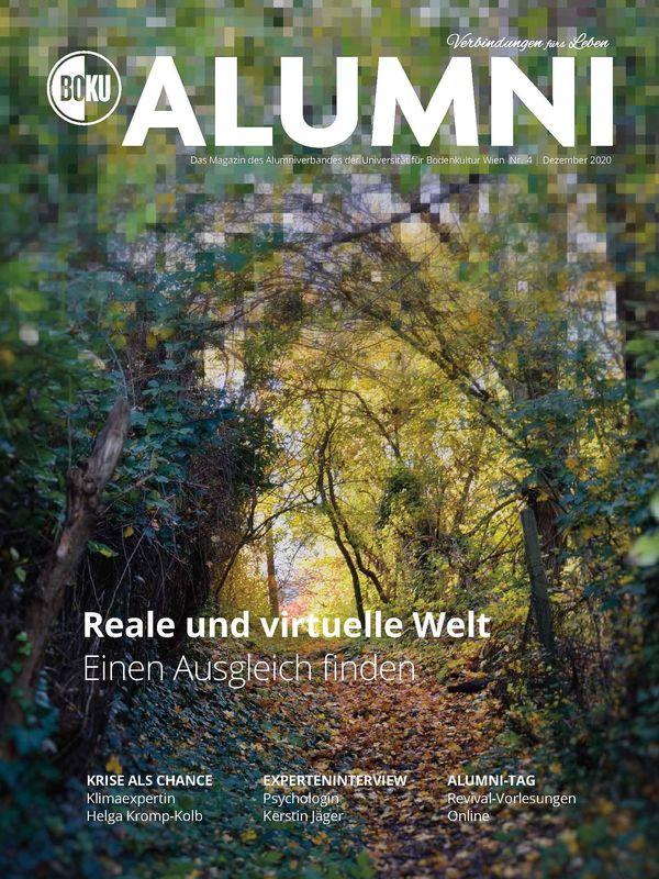 Bucheinband von 'Alumni - Das Magazin des Alumniverbandes der Universität für Bodenkultur Wien, Band 4/2020'