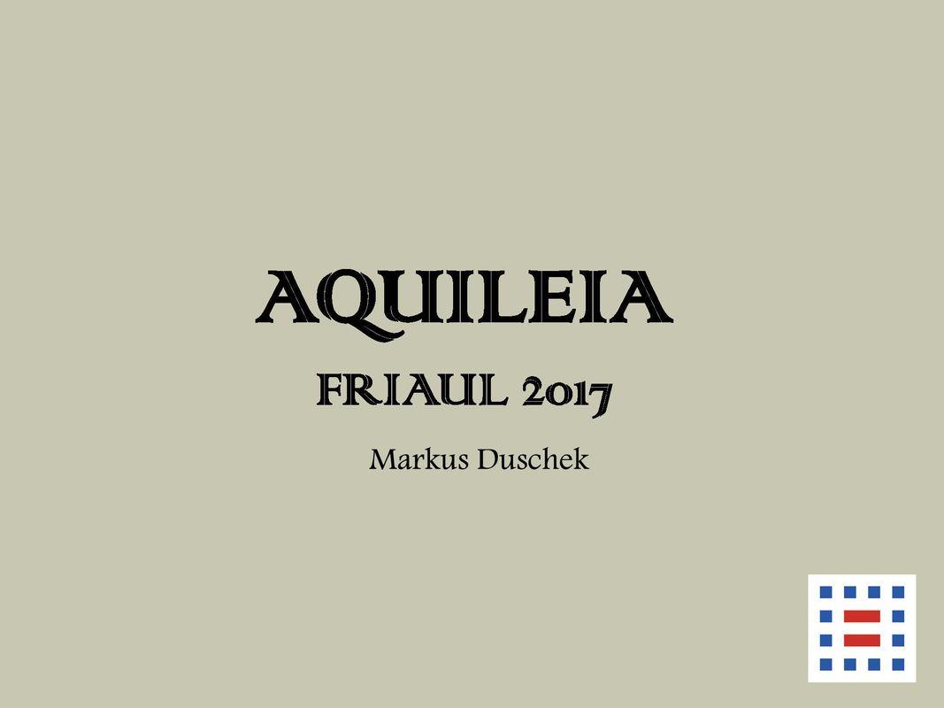 Bucheinband von 'Aquileia - Friaul 2017'