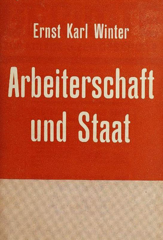 Bucheinband von 'Arbeiterschaft und Staat'