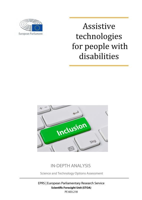 Bucheinband von 'Assistive technologies for people with disabilities'