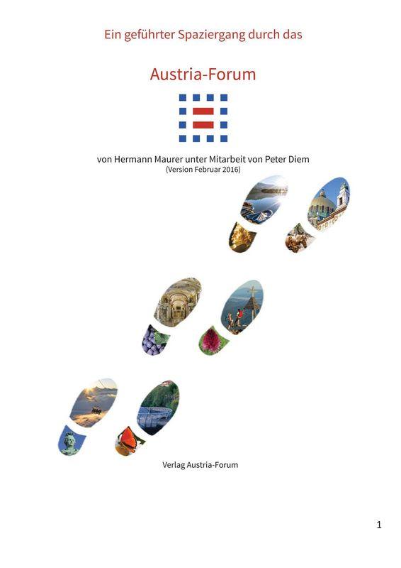 Bucheinband von Austria-Forum - Ein geführter Spaziergang durch das Austria-Forum