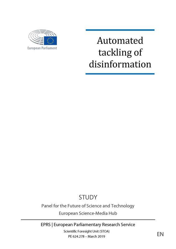 Bucheinband von 'Automated tackling of disinformation'