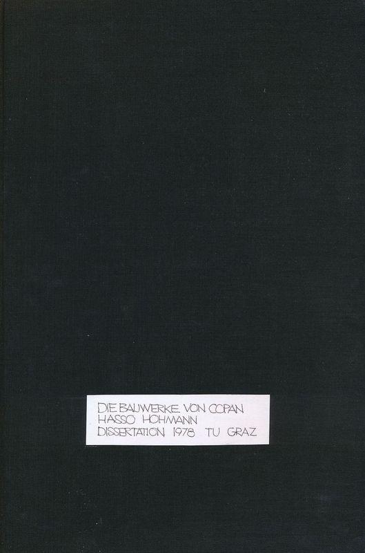 Cover of the book 'Die Bauwerke von Copan'