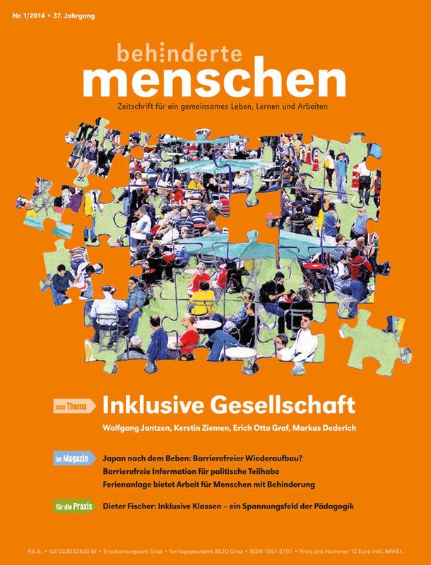 Bucheinband von 'Behinderte Menschen - Zeitschrift für gemeinsames Leben, Lernen und Arbeiten, Band 1/2014'