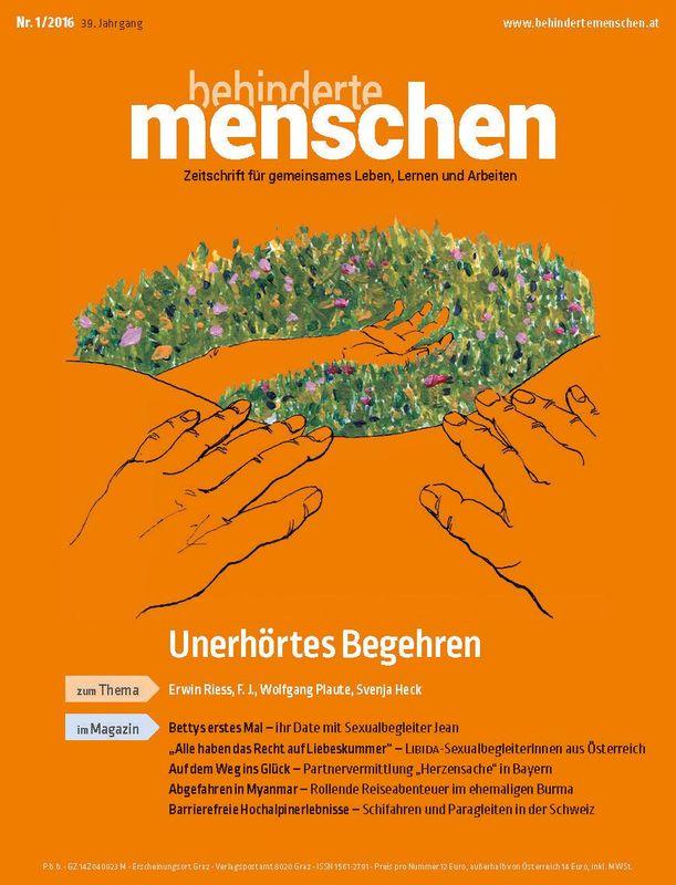 Bucheinband von 'Behinderte Menschen - Zeitschrift für gemeinsames Leben, Lernen und Arbeiten, Band 1/2016'