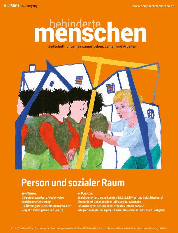 Bucheinband von 'Behinderte Menschen - Zeitschrift für gemeinsames Leben, Lernen und Arbeiten, Band 1/2019'