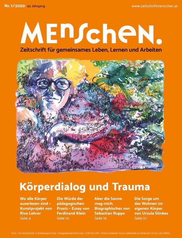 Bucheinband von 'Menschen. - Zeitschrift für gemeinsames Leben, Lernen und Arbeiten, Band 1/2020'