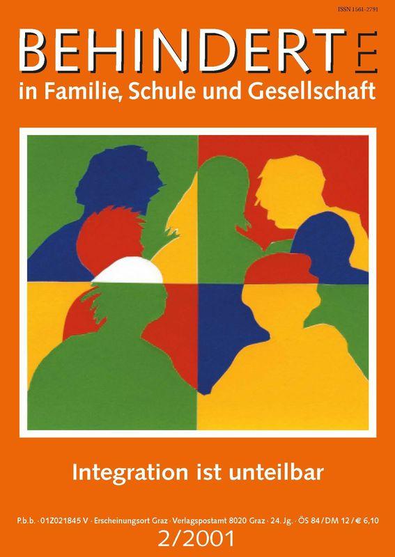 Bucheinband von 'Behinderte in Familie, Schule und Gesellschaft, Band 2/2001'