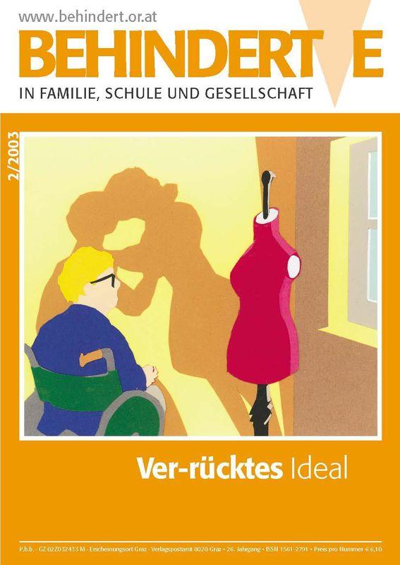 Cover of the book 'Behinderte in Familie, Schule und Gesellschaft, Volume 2/2003'