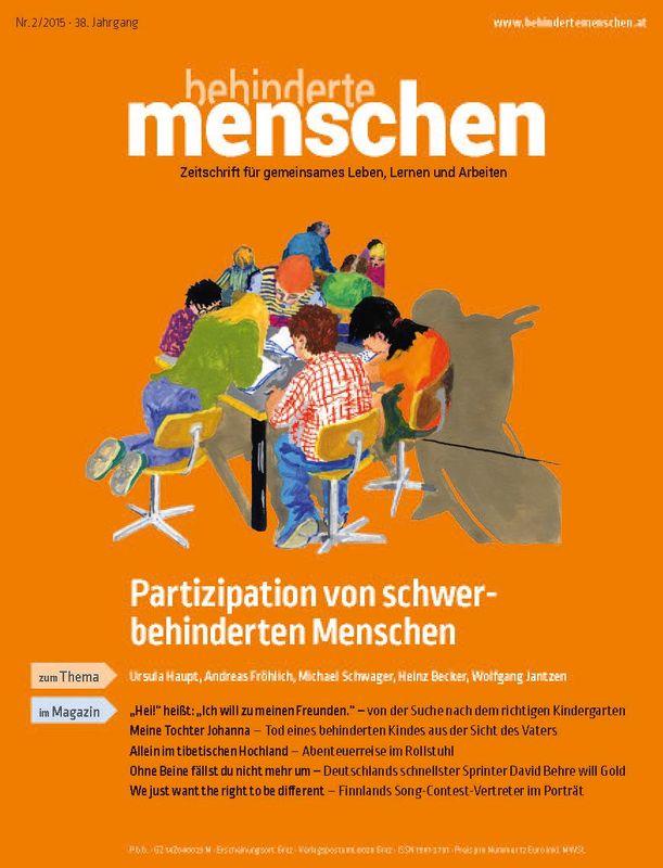 Bucheinband von 'Behinderte Menschen - Zeitschrift für gemeinsames Leben, Lernen und Arbeiten, Band 2/2015'