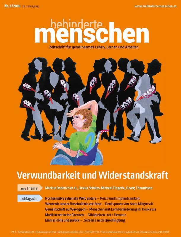 Bucheinband von 'Behinderte Menschen - Zeitschrift für gemeinsames Leben, Lernen und Arbeiten, Band 2/2016'