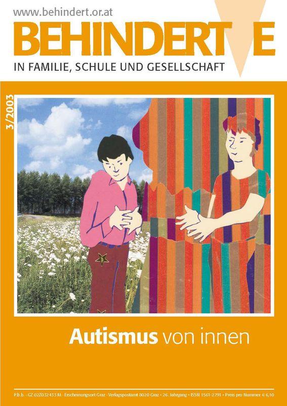 Bucheinband von 'Behinderte in Familie, Schule und Gesellschaft, Band 3/2003'
