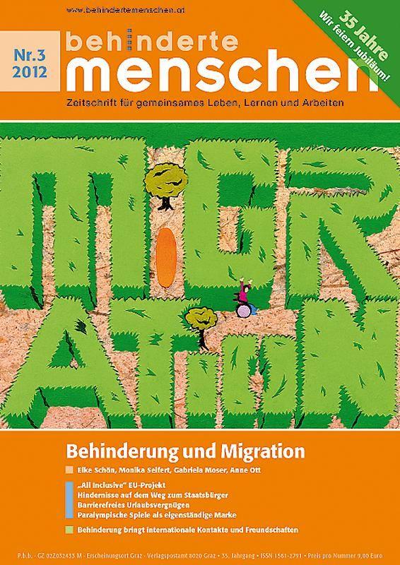 Bucheinband von 'Behinderte Menschen - Zeitschrift für gemeinsames Leben, Lernen und Arbeiten, Band 3/2012'