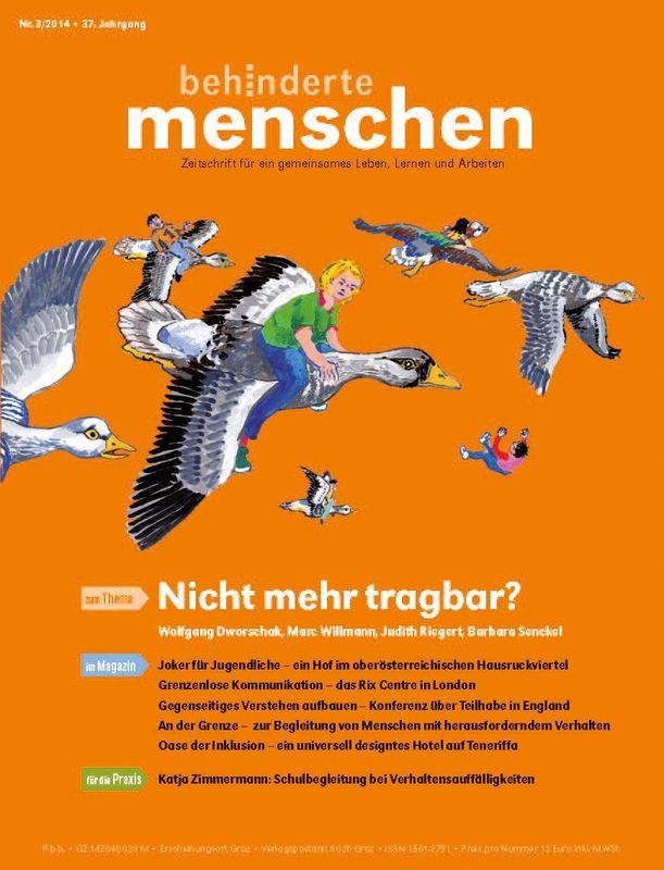 Bucheinband von 'Behinderte Menschen - Zeitschrift für gemeinsames Leben, Lernen und Arbeiten, Band 3/2014'
