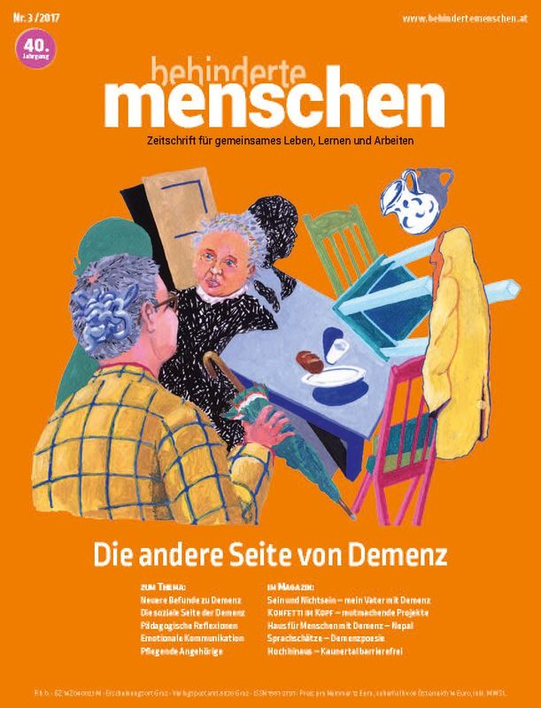 Bucheinband von 'Behinderte Menschen - Zeitschrift für gemeinsames Leben, Lernen und Arbeiten, Band 3/2017'