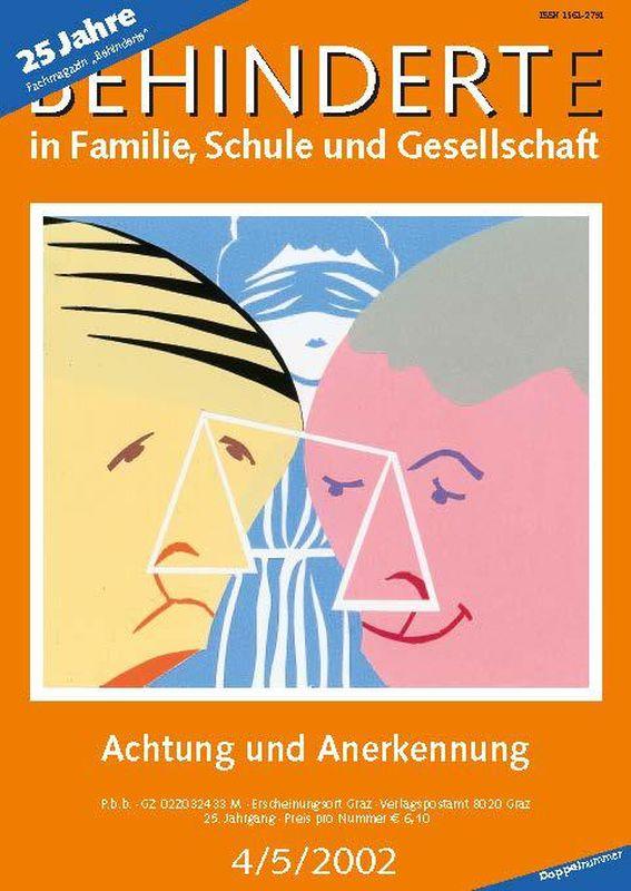 Cover of the book 'Behinderte in Familie, Schule und Gesellschaft, Volume 4+5/2002'