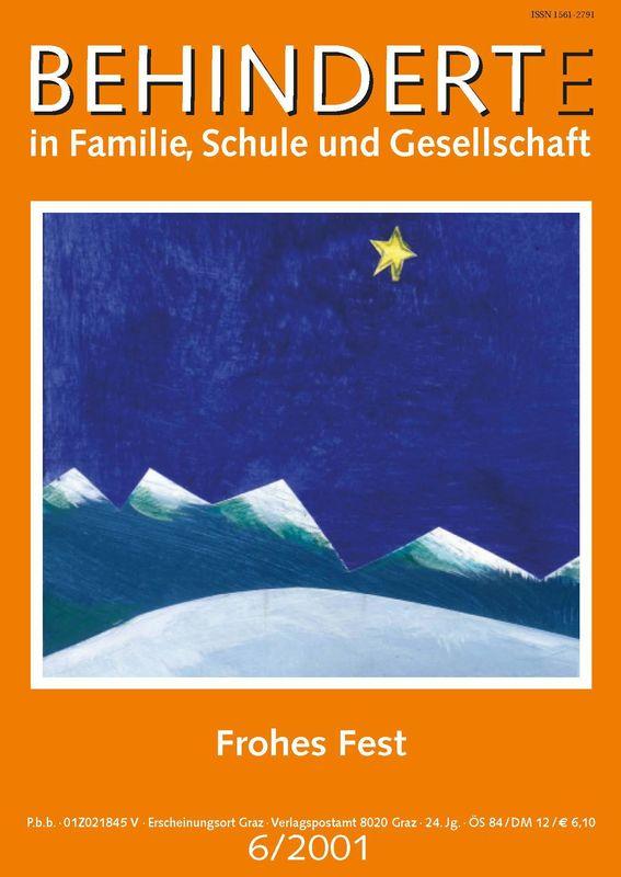 Bucheinband von 'Behinderte in Familie, Schule und Gesellschaft, Band 6/2001'