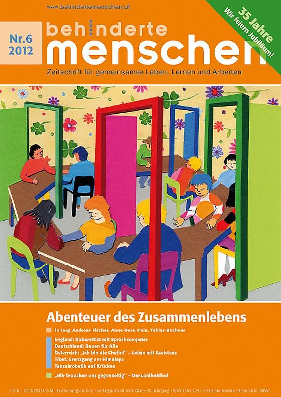 Bucheinband von 'Behinderte Menschen - Zeitschrift für gemeinsames Leben, Lernen und Arbeiten, Band 6/2012'