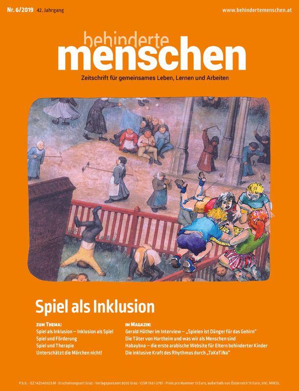 Bucheinband von 'Behinderte Menschen - Zeitschrift für gemeinsames Leben, Lernen und Arbeiten, Band 6/2019'