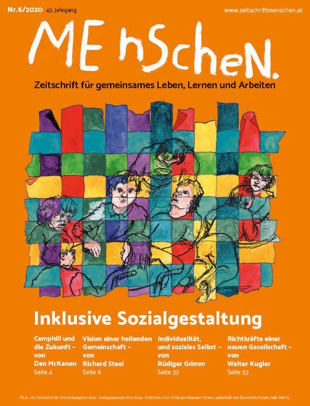 Bucheinband von 'Menschen. - Zeitschrift für gemeinsames Leben, Lernen und Arbeiten, Band 6/2020'