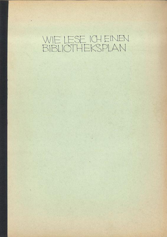 Bucheinband von 'Wie lese ich einen Bibliotheksplan?'