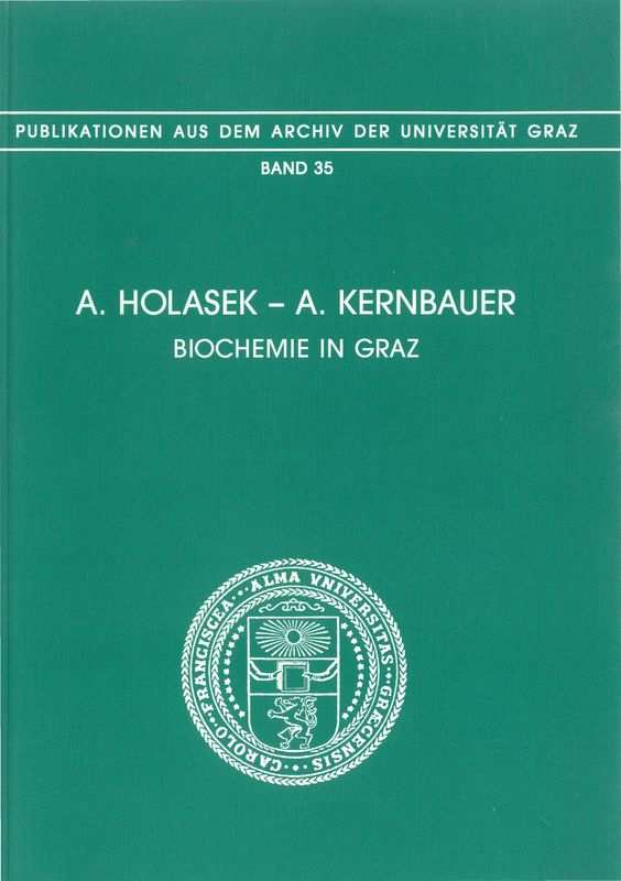 Cover of the book 'Biochemie in Graz, Volume 35'