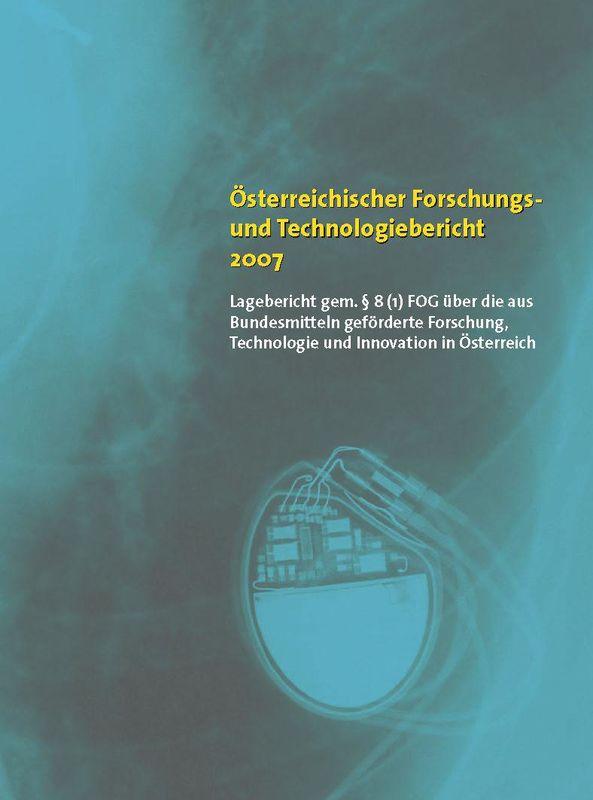 Bucheinband von 'Österreichischer Forschung- und Technologiebericht 2007'