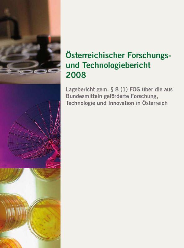 Bucheinband von 'Österreichischer Forschung- und Technologiebericht 2008'