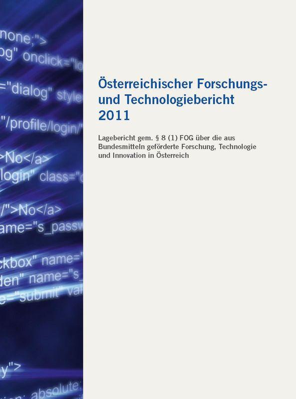 Bucheinband von 'Österreichischer Forschung- und Technologiebericht 2011'