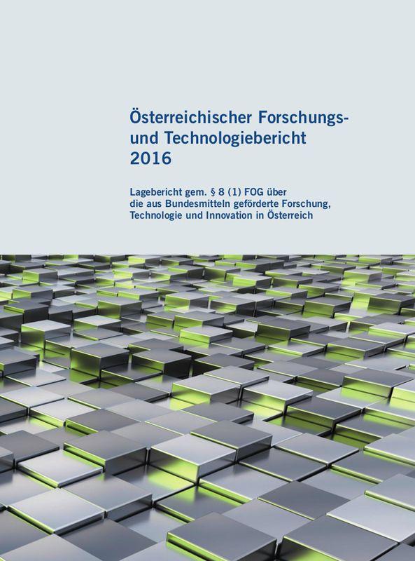 Bucheinband von 'Österreichischer Forschung- und Technologiebericht 2016'