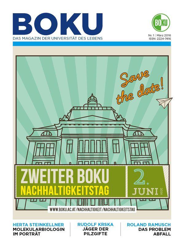 Cover of the book 'BOKU - Das Magazin der Universität des Lebens, Volume 1/2016'