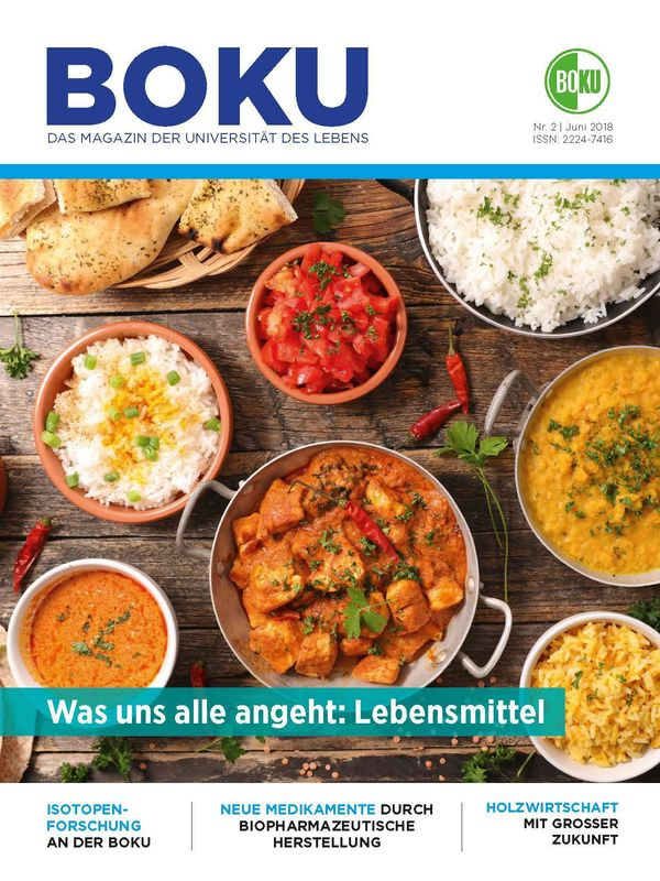 Cover of the book 'BOKU - Das Magazin der Universität des Lebens, Volume 2/2018'