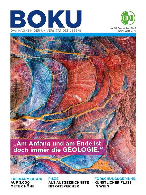 Cover of the book 'BOKU - Das Magazin der Universität des Lebens, Volume 3/2015'