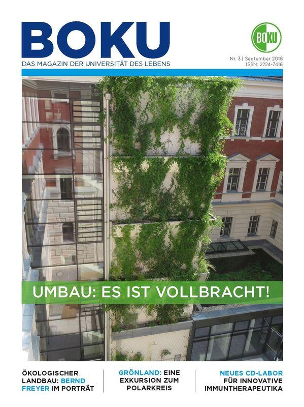 Bucheinband von 'BOKU - Das Magazin der Universität des Lebens, Band 3/2016'