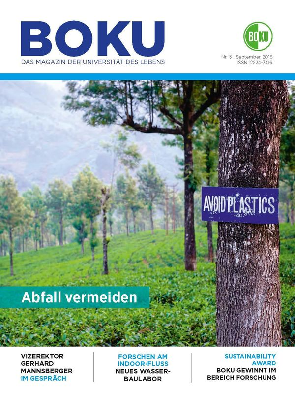 Cover of the book 'BOKU - Das Magazin der Universität des Lebens, Volume 3/2018'